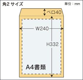角2形封筒サイズ図